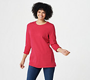 Denim & Co. Active Regular French Terry 3/4-Sleeve Tunic - A383248