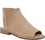 Sole Society Peep Toe Flat Leather Booties - Birty - A411848