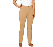 Isaac Mizrahi Live! Regular Ponte Knit Straight Pants - A260949