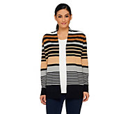 Liz Claiborne New York Open Front Stripe Cardigan and Tank Set - A261249