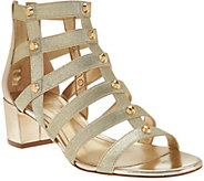Marc Fisher Gladiator Block Heel Sandals - Julee - A274949