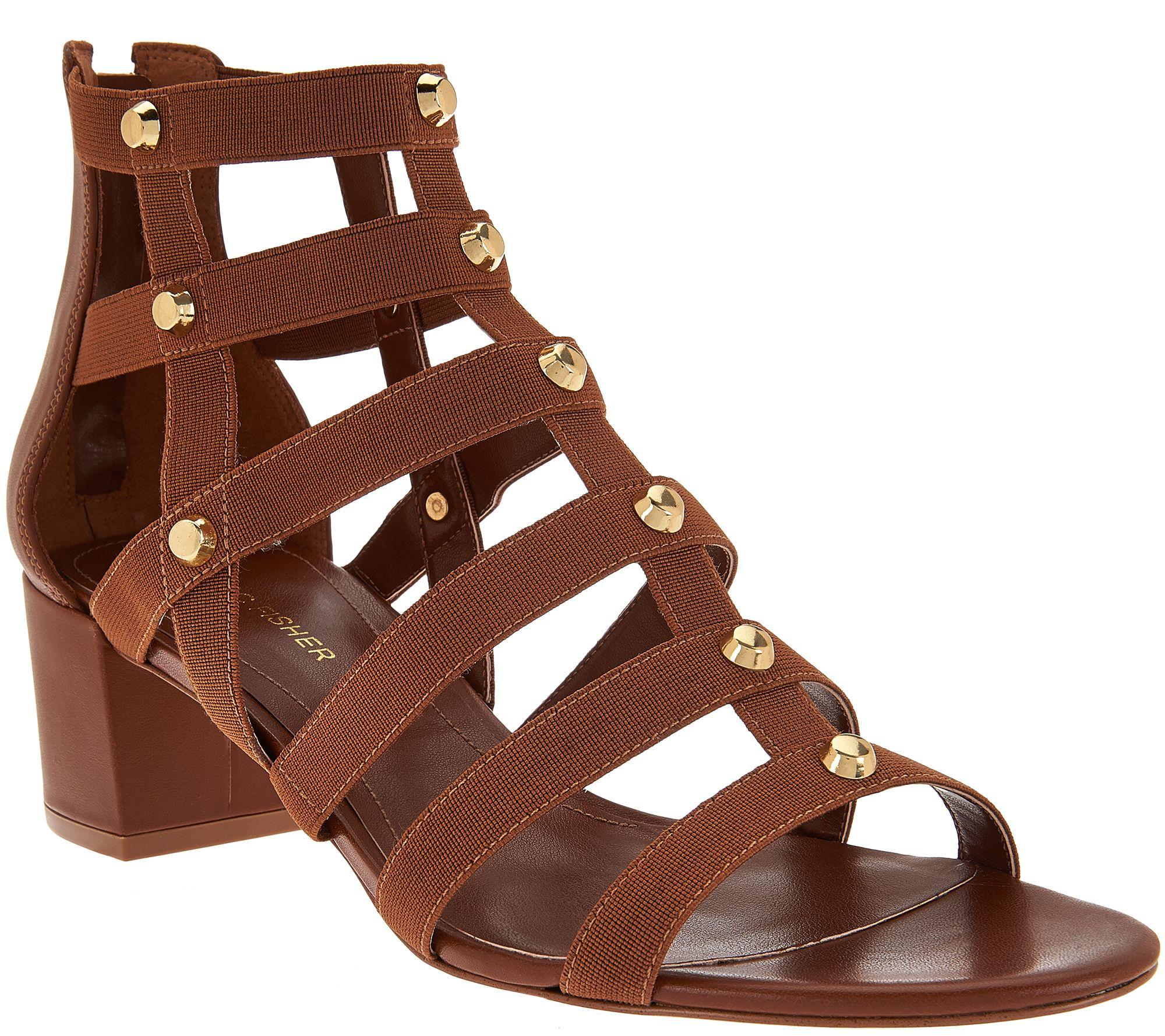 5e868b37ba5b Marc Fisher Gladiator Block Heel Sandals - Julee - Page 1 — QVC.com