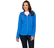 Susan Graver Weekend French Terry Hooded Jacket with Seaming Detail - A275549