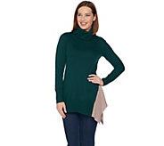 LOGO by Lori Goldstein Cotton Cashmere Cowl Neck Knit Sweater - A283049