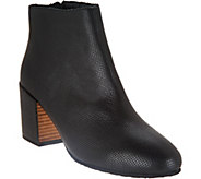 Gentle Souls Leather Block Heel Ankle Boots - Blaise 2 - A297049