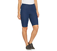 Isaac Mizrahi Live! Regular 24/7 Denim Bermuda Shorts - A306549