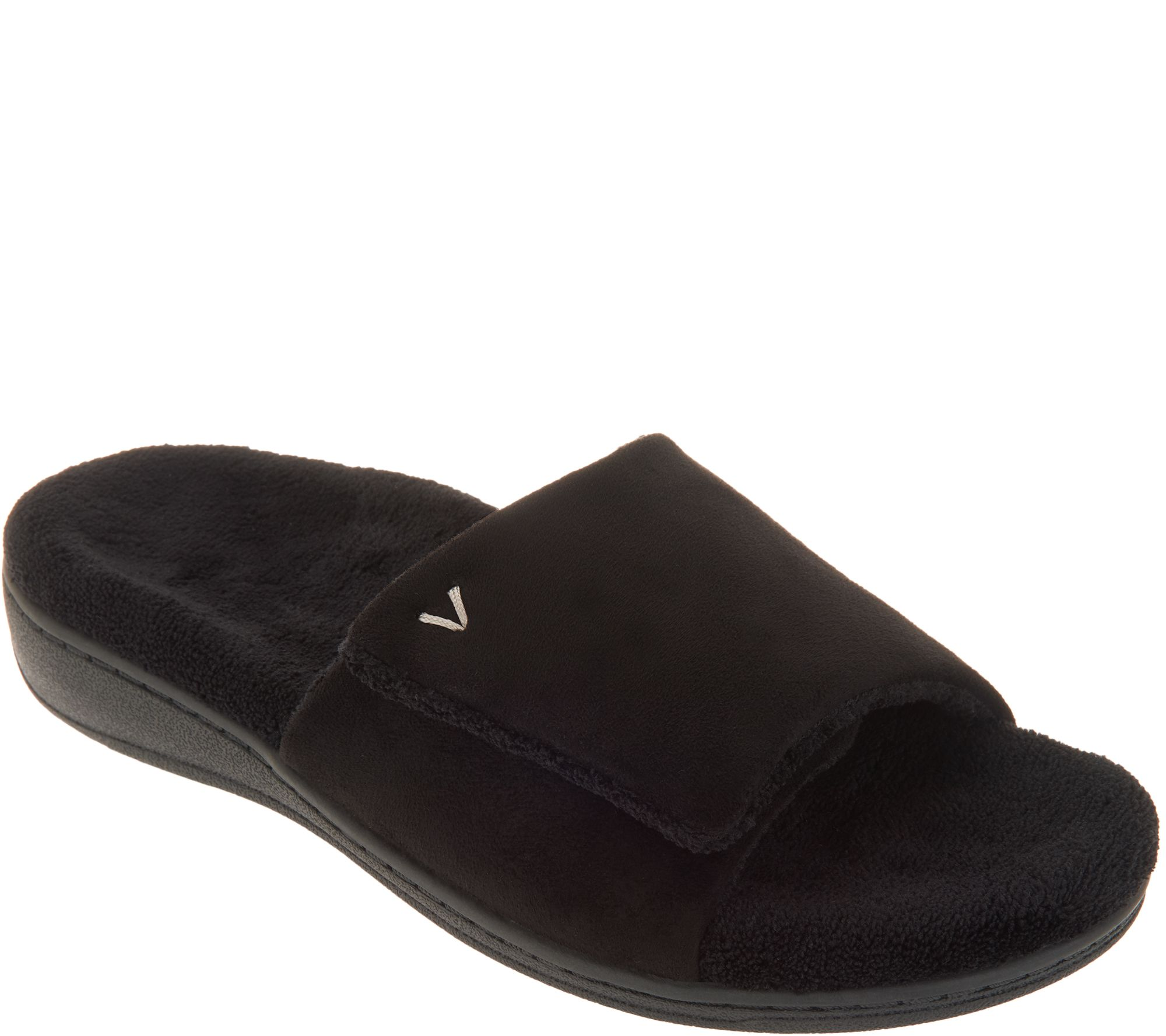 25451dc2851a Vionic Adjustable Strap Slippers - Darby - Page 1 — QVC.com
