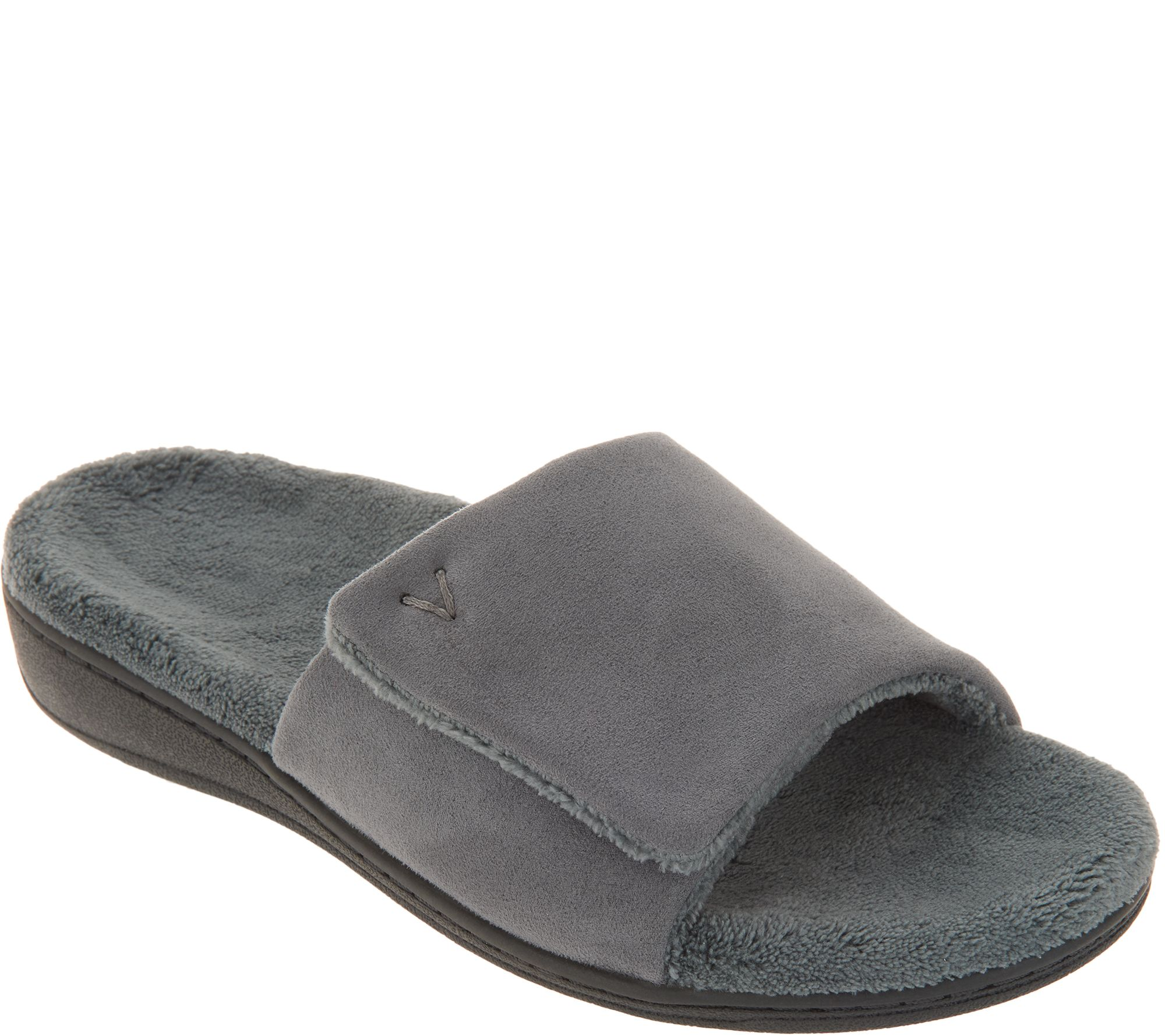 612ee31d03cc52 Vionic Adjustable Strap Slippers - Darby - Page 1 — QVC.com