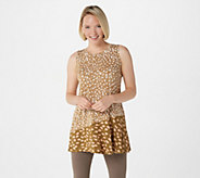 LOGO Layers by Lori Goldstein Printed Knit Tank with Asymmetric Seam - A309149