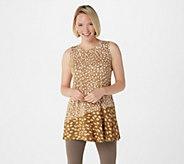 LOGO Layers by Lori Goldstein Printed Knit Tank with Asymmetric Seam - A309149