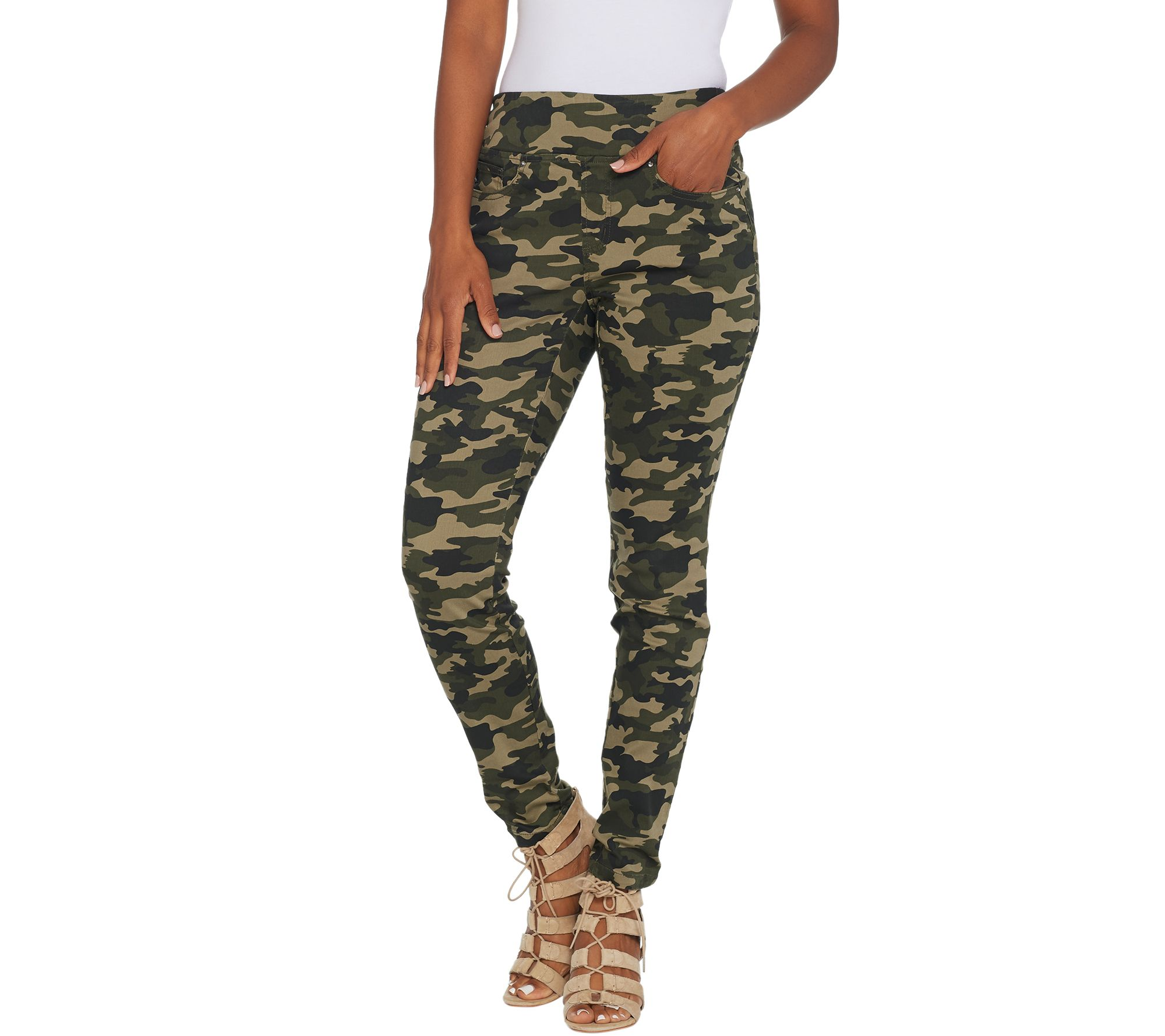 Belle Kim Gravel TripleLuxe Twill Pull-On Legging A309949