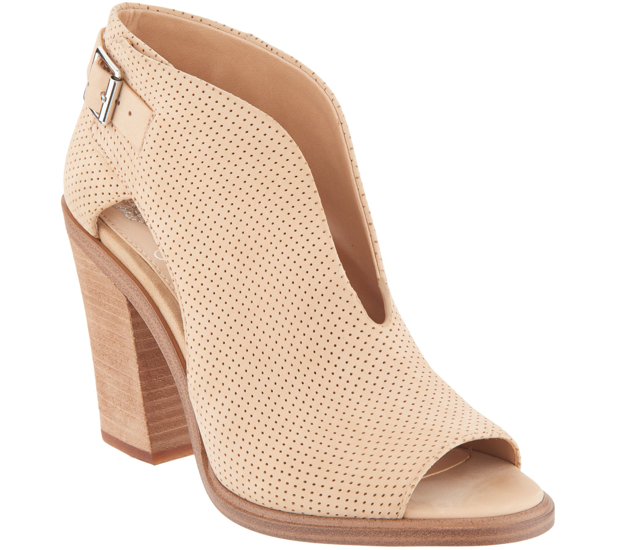07ac190a7818a Vince Camuto Suede Front V-Cut Peep Toe Booties - Kalei - Page 1 — QVC.com