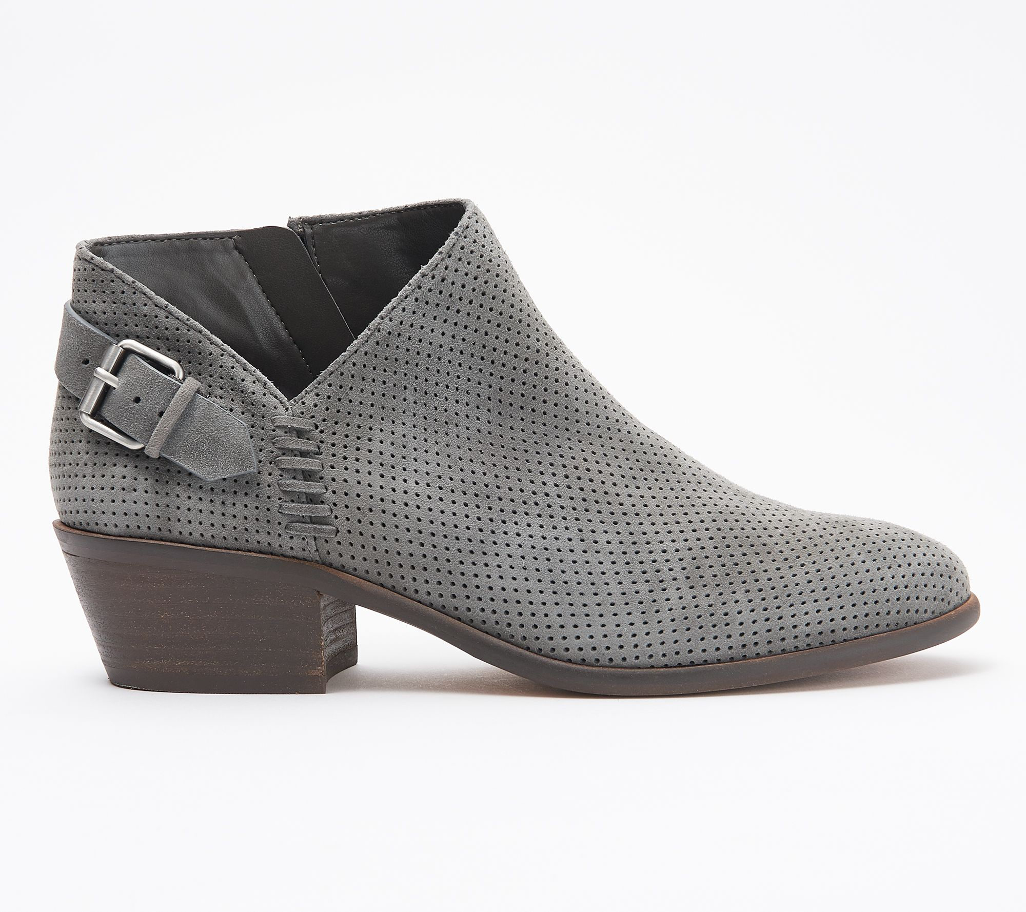 a63f569ebd Vince Camuto Suede Booties with Buckle Detail - Parveen - Page 1 — QVC.com