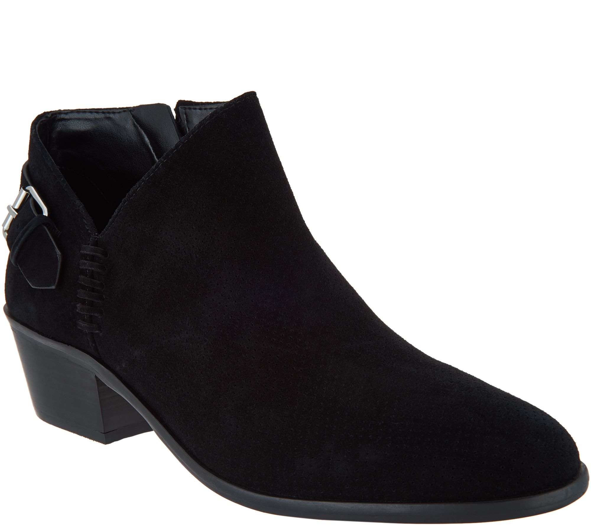 79027d585da9f Vince Camuto Suede Booties with Buckle Detail - Parveen - Page 1 — QVC.com