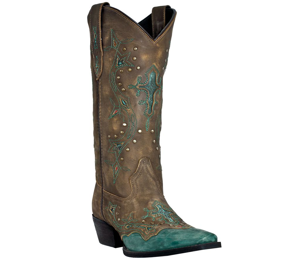 Dan Post Laredo Leather Cowboy Boots - Cross Point cheap professional fqQdS