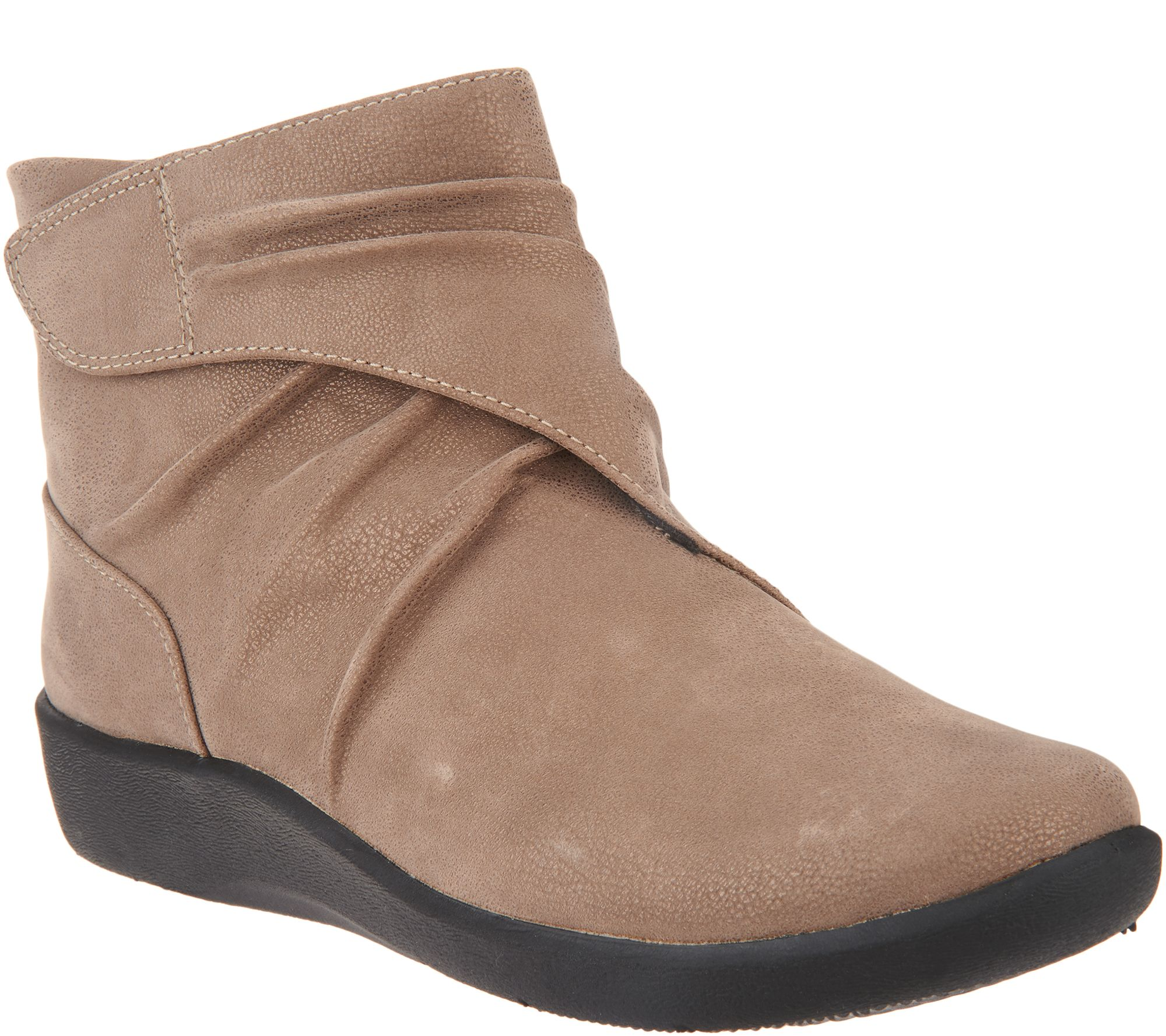 df08add8cfb3 CLOUDSTEPPERS by Clarks Ruched Ankle Boots - Sillian Tana - Page 1 — QVC.com