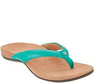 Vionic Patent Thong Sandals w/ V Detail - Jen - A346949