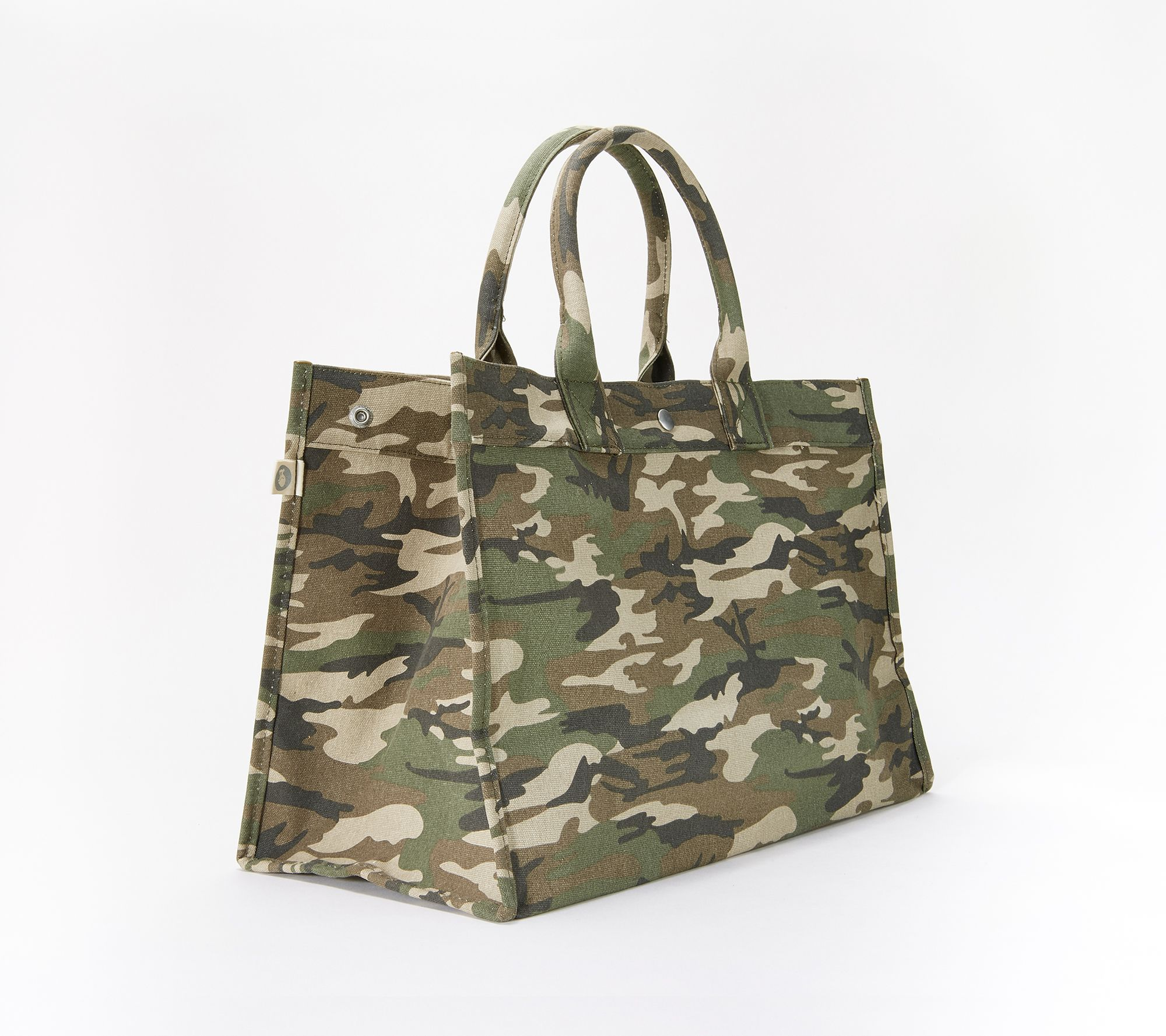 da81c60917f7 Quilted Koala East West Canvas Tote with Pom-Pom Accessory - Page 1 —  QVC.com