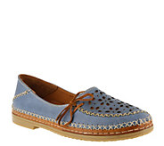 Spring Step Leather Slip-On Shoes - Sideway - A364049