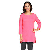 Isaac Mizrahi Live! 2-Ply Cashmere Ballet Neck Tunic - A235050