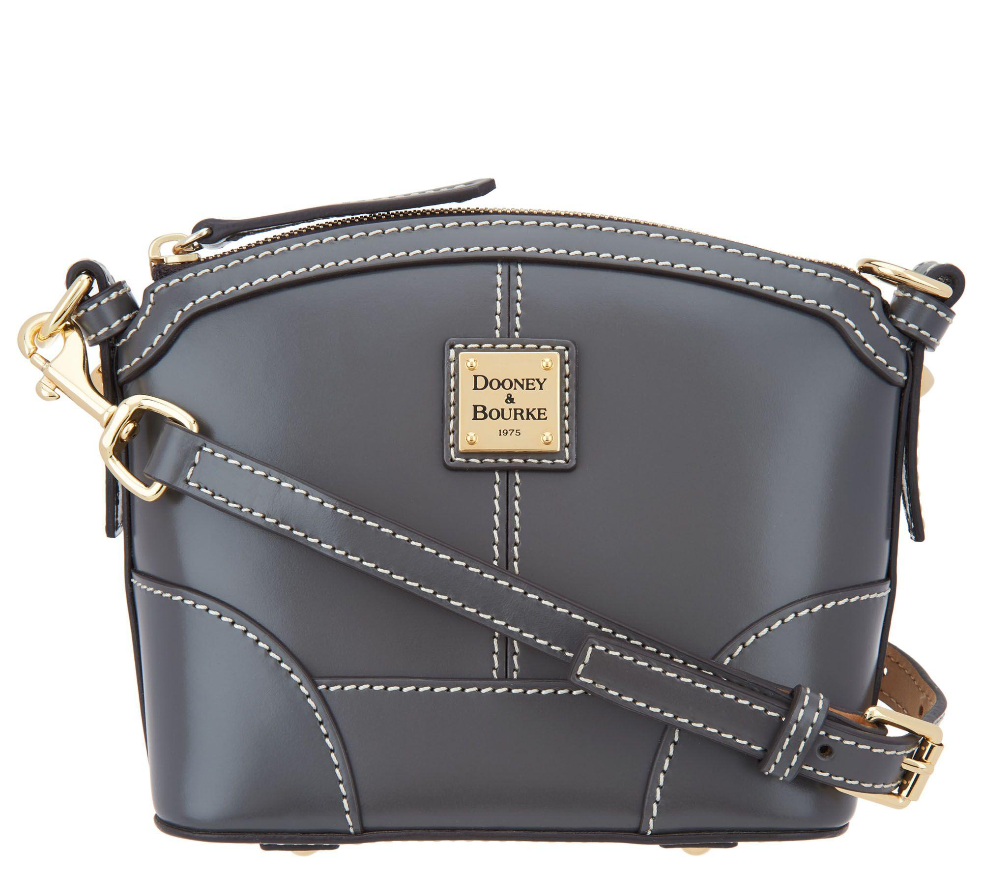 4000457fd2c Dooney   Bourke Selleria Florentine Leather Crossbody - Page 1 — QVC.com