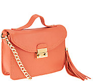 Isaac Mizrahi Live! Bridgehampton Leather Mini Shoulder Bag - A262950