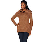 Lisa Rinna Collection Zip Front Sweater with Rib Collar - A278950
