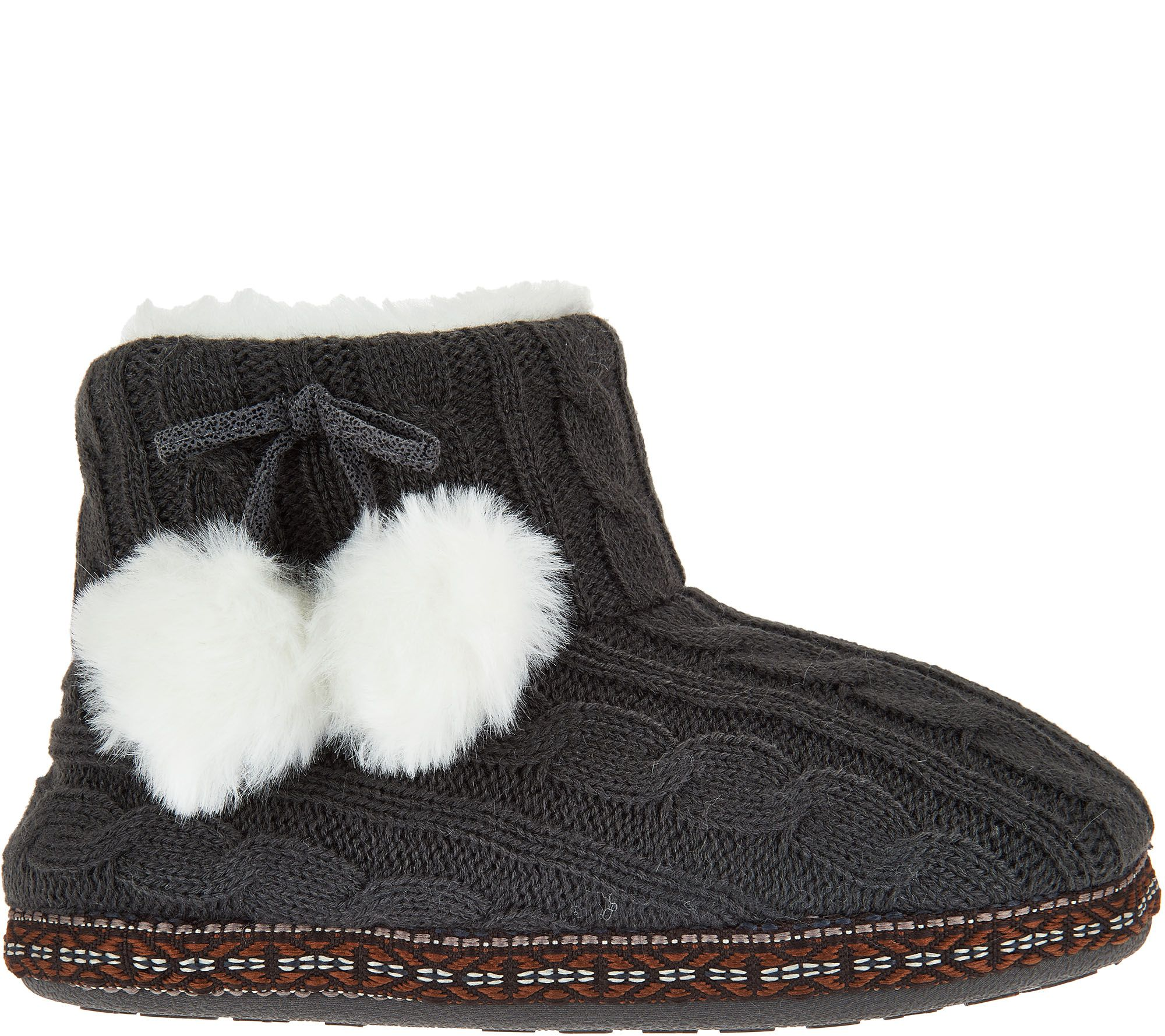 Cuddl Duds Faux Fur Lined Ankle Bootie Slipper with Foam Insole 2015 online clearance Manchester discount view cheapest price for sale eI3vuOn9h