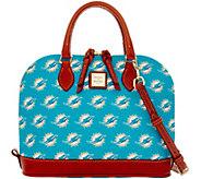 Dooney & Bourke NFL Dolphins Zip Zip Satchel - A285750