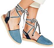 ED Ellen DeGeneres Ankle Tie Espadrilles - Lourana - A291050