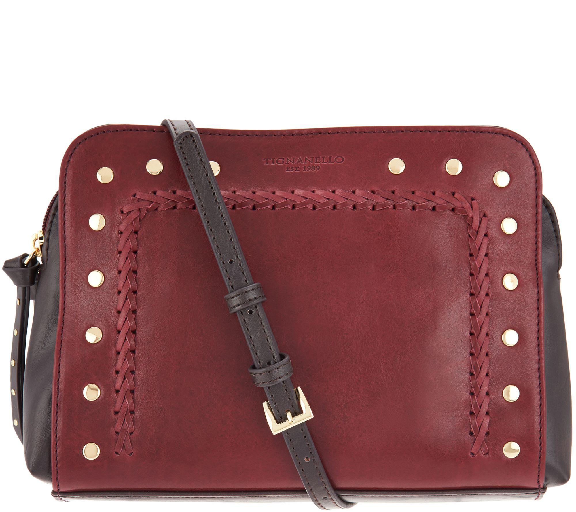 daec2e89cf Tignanello Vintage Leather Mojave Crossbody Handbag - Page 1 — QVC.com