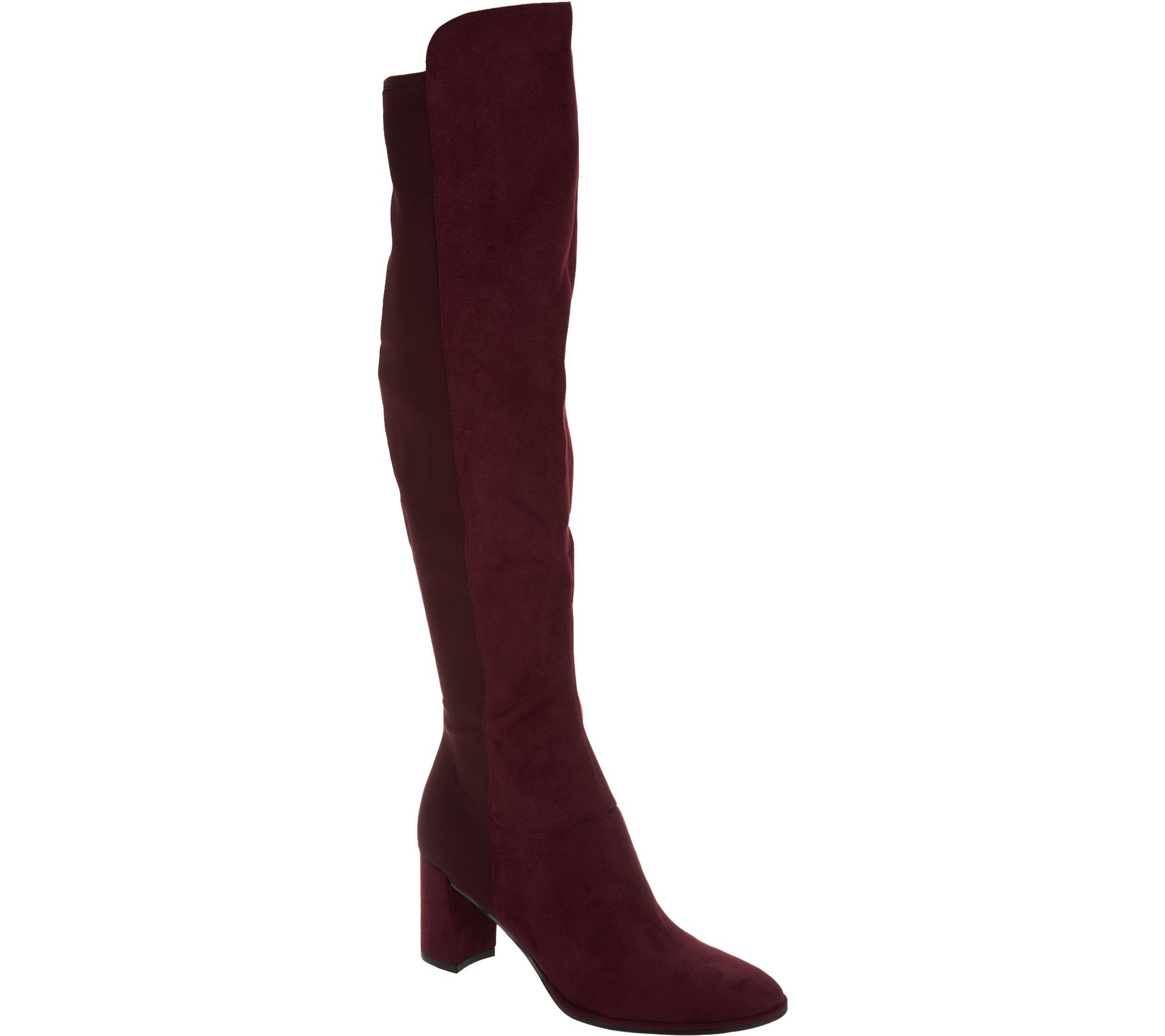 9785f0080c8 Marc Fisher Faux Suede Over-the-Knee Boots - Loran - Page 1 — QVC.com