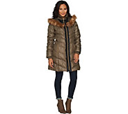 G.I.L.I. Faux Fur Trimmed Down Puffer Coat - A298550