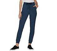 LOGO by Lori Goldstein Ponte Jogger Pant with Rib Details - A300750