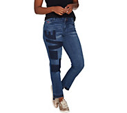 Peace Love World Washed L.O.V.E. Denim Jeans with Fringe Hem - A301550