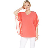 Joan Rivers V-Neck Caftan Blouse with Flowy Sleeves - A303950