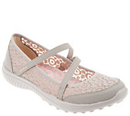 Skechers Crochet Mesh Mary Janes - Be Light Florescent - A304450