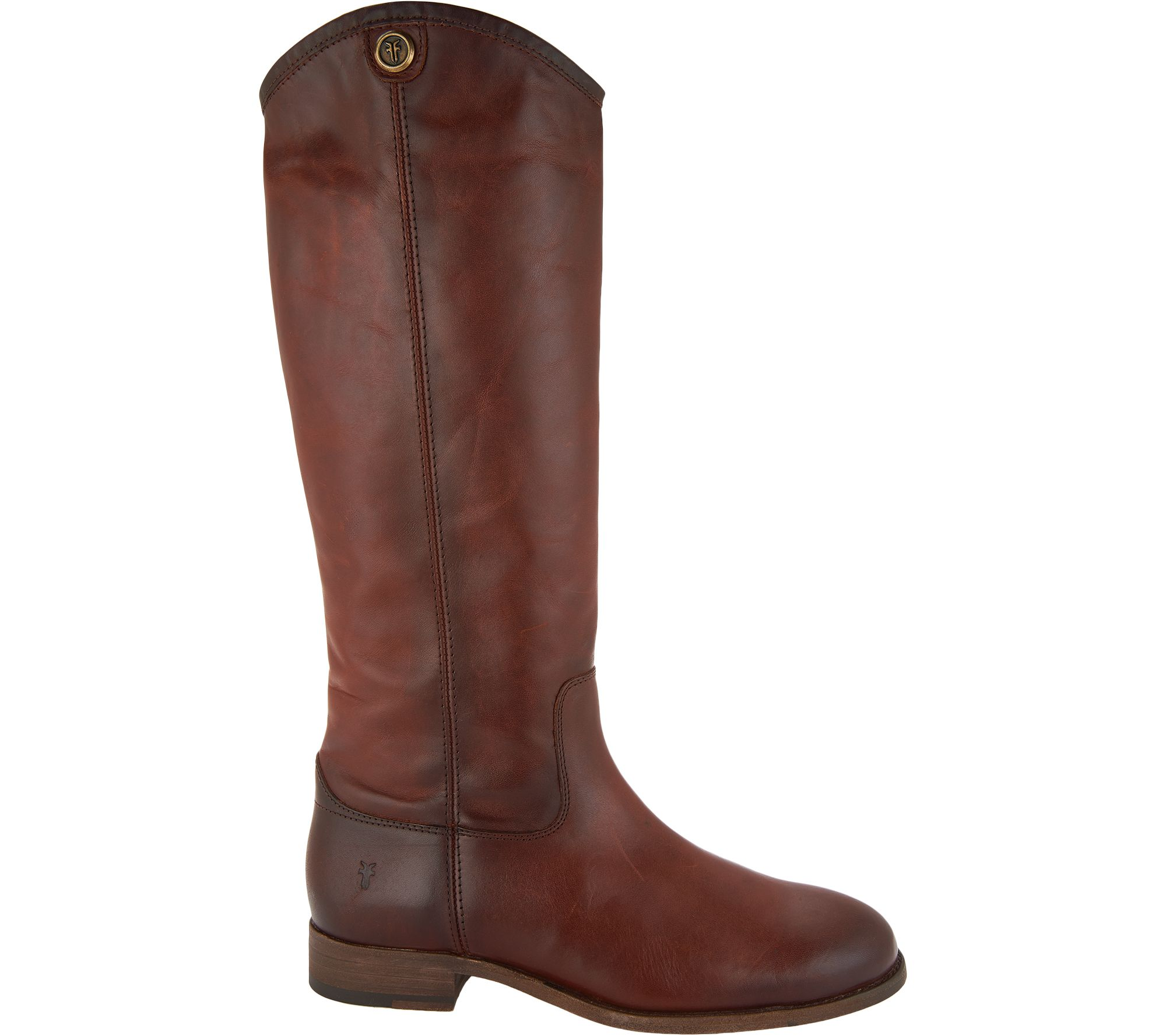 f1a8d379b37 Frye Leather Tall Shaft Pull-on Boots - Melissa Button 2 - Page 1 — QVC.com