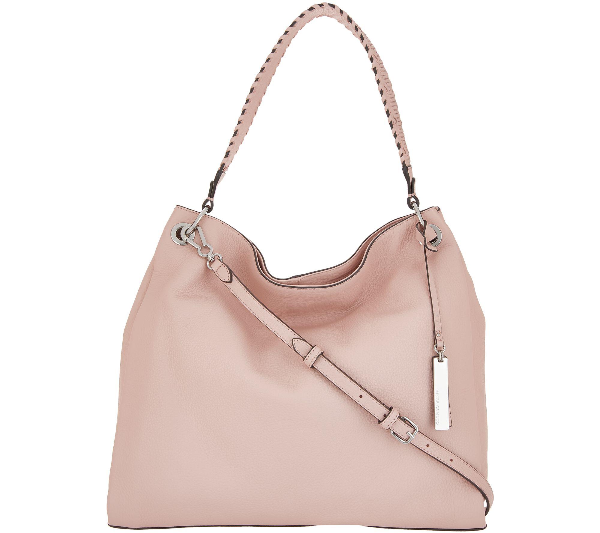 4a818093b Vince Camuto Leather Hobo Handbag - Nadja - Page 1 — QVC.com