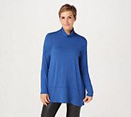 Joan Rivers Long Sleeve Jersey Knit Turtleneck with Hem Detail - A311350