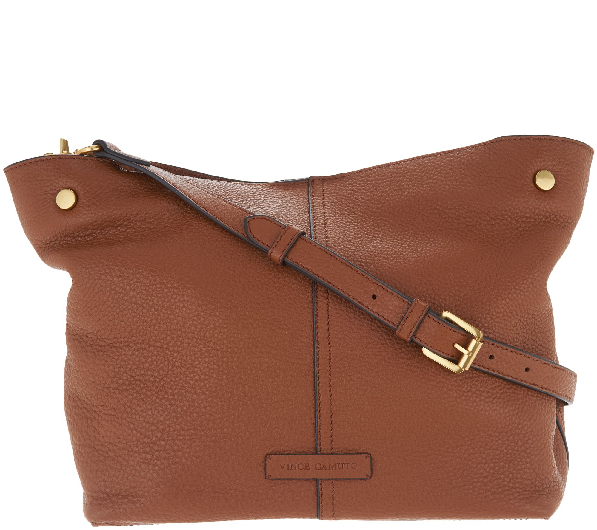 5166d0edf60df Vince Camuto Leather Small Tote - Niki - Page 1 — QVC.com