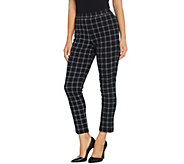 Joan Rivers Petite Length Signature Printed Pull-On Ankle Pants - A343450