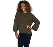 Vince Camuto Long-Sleeve Novelty Texture Stitch Sweater - A343750