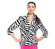 As Is Joan Rivers Joan Rangers Zebra Print Jacket - A347950