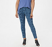H by Halston Petite Premier Denim Snake Printed Ankle Jeans - A351350