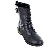 White Mountain Heritage Collection Lace-up Combat Boots - Fid - A356150