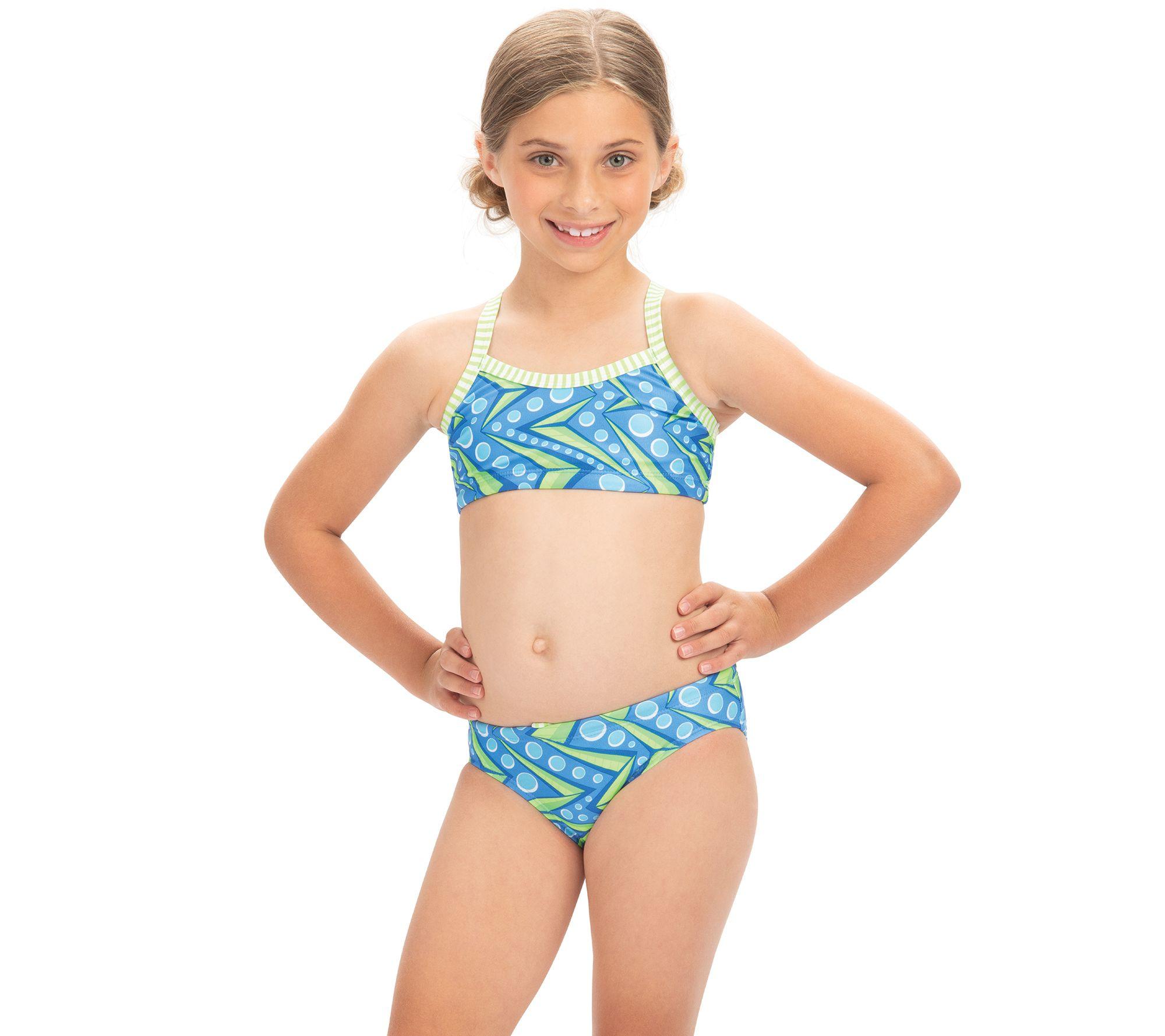 783d5ce4995 Dolfin Uglies Girls Zenon Print 2-Piece Swimsuit — QVC.com