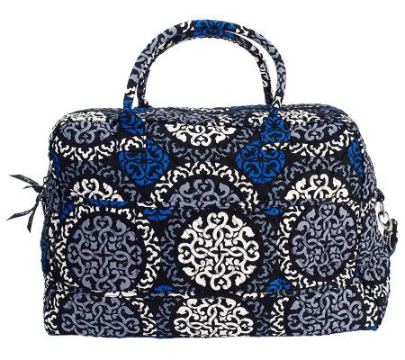 e73c381650f4 Vera Bradley Signature Print Weekender   Ditty Bag - Page 1 — QVC.com