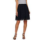 Isaac Mizrahi Live! Gingham Organza Box Pleat Skirt - A273651