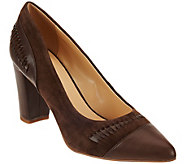 C. Wonder Leather & Suede Pumps with Woven Detail - Beatrice - A279951